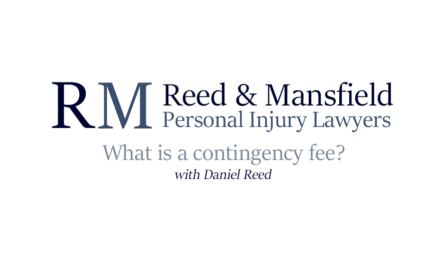 Reed & Mansfield Personal Injury Lawyers logo for video thumbnail